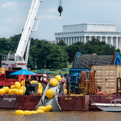 Caldwell Marine Potomac River Underwater Cable Installation